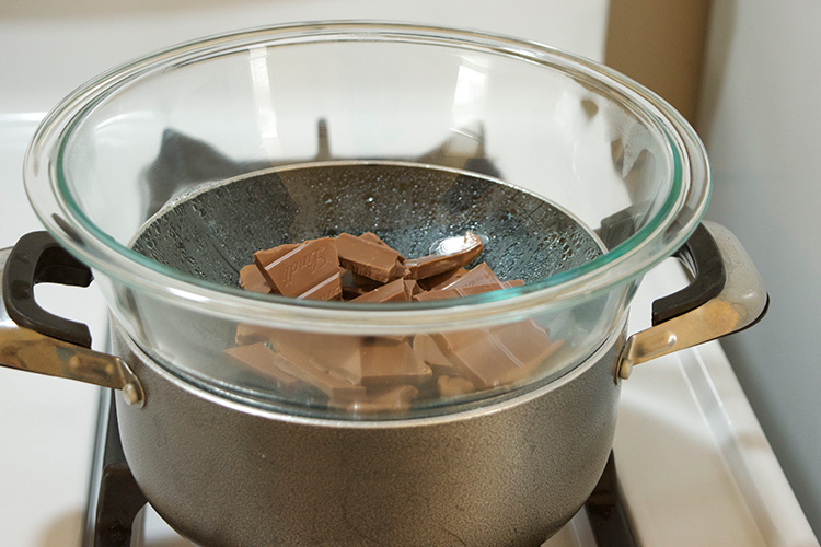 Chocolate-over-saucepan