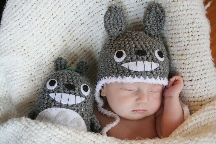 Totoro hat and doll
