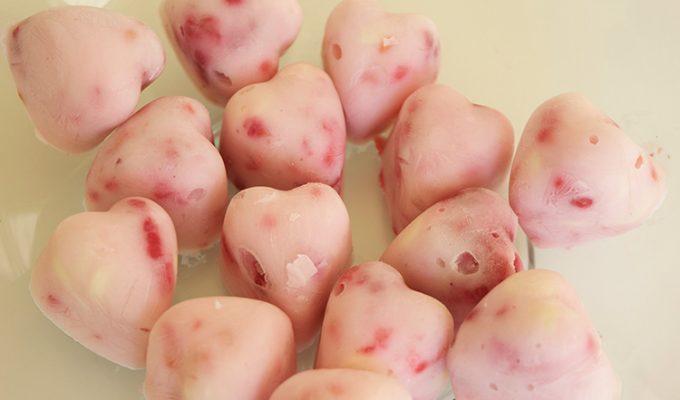 Raspberry Frozen Yoghurt Bites