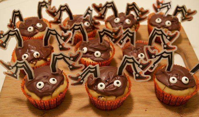 Easy Halloween Spider Muffins