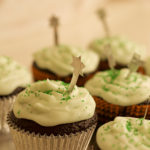 Easy Halloween Chocolate and Peppermint Cupcakes