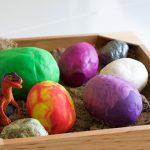 Making Play-Doh Dinosaur Eggs