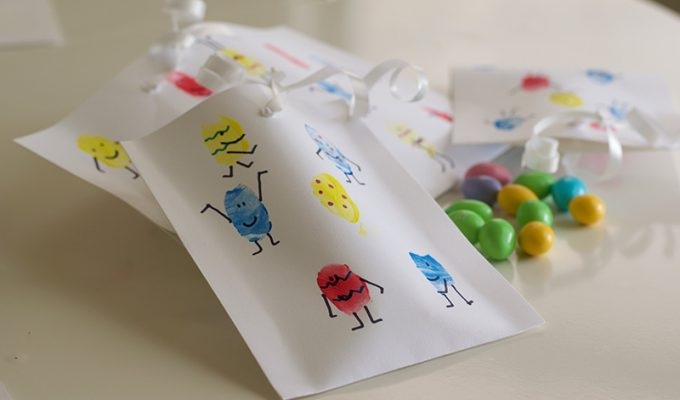 Make Your Own Finger Paint Easter Treat Bags