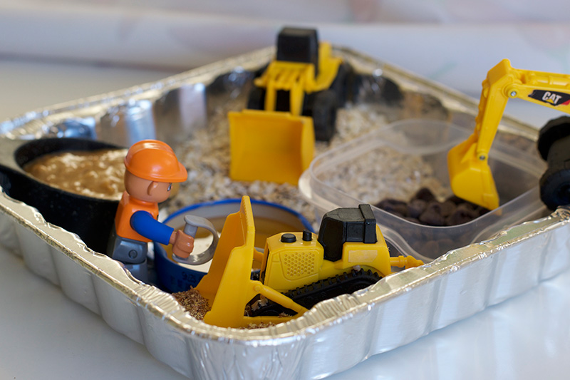 Invitation to Make: No Bake Energy Bites (Using Construction Vehicles!)