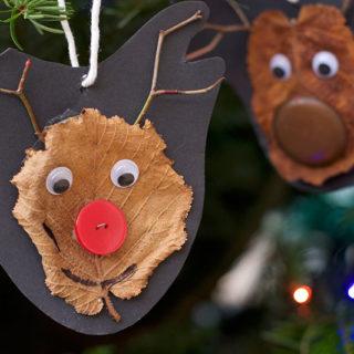 Easy Nature Reindeer Craft