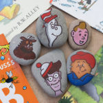 Book Character Painted Rock Craft