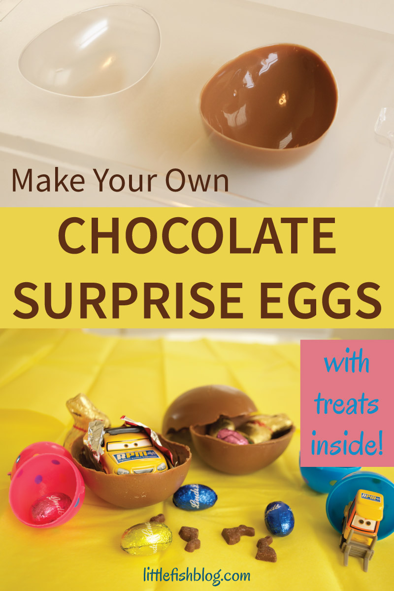 Make your own chocolate surprise eggs little fish for Create your own fish