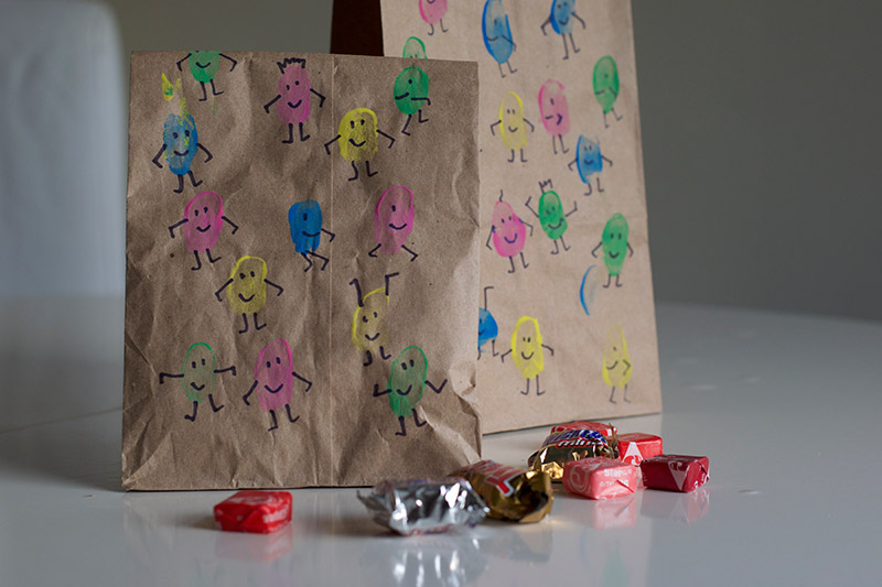 Finger Paint People Goodie Bags