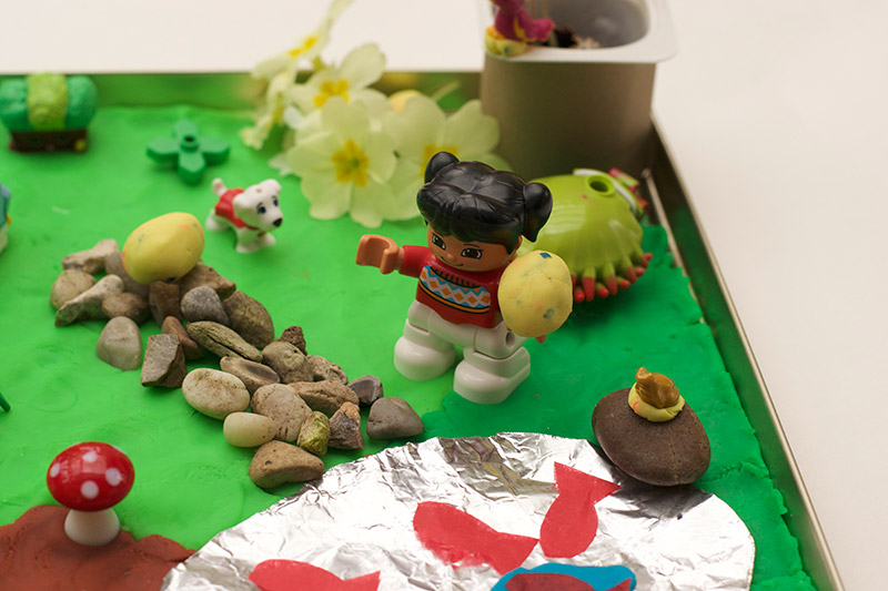 Make Your Own Miniature Garden Easter Egg Hunt