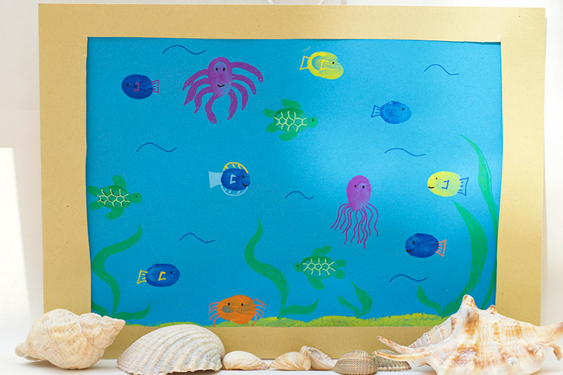 Fun Finger Paint Aquarium Activity