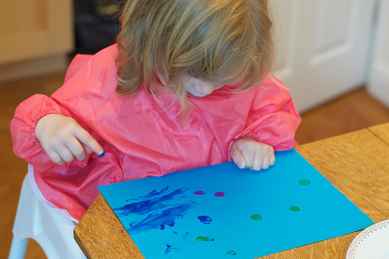fun finger paint aquarium activity little fish