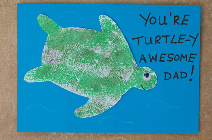 Finished Easy Turtle Father's Day Card