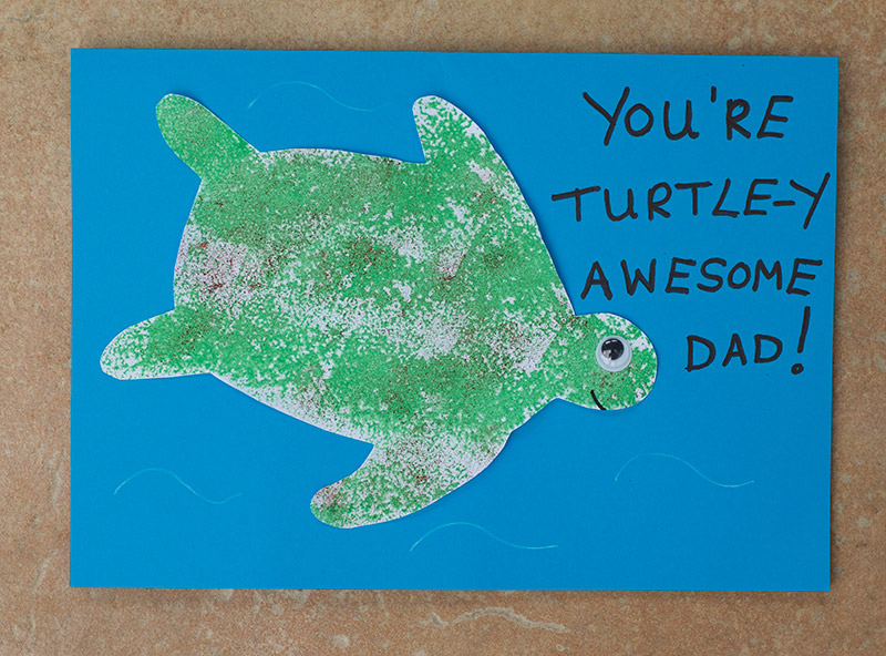 Easy Turtle Father's Day Card for Kids