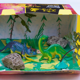 Make a Dinosaur Habitat Box (with Things You Have at Home)