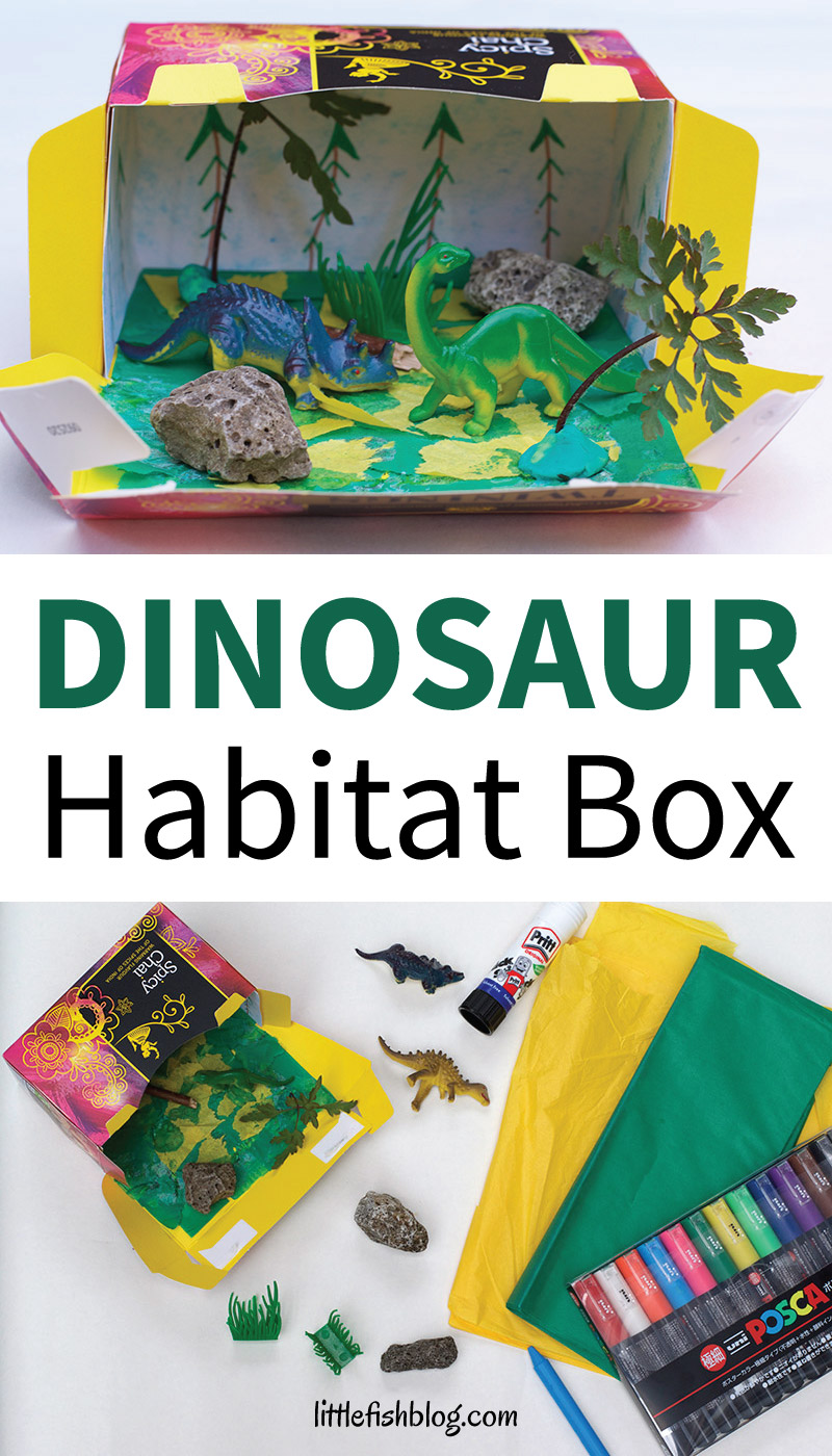 Make A Dinosaur Habitat Box With Things You Have At Home Little Fish