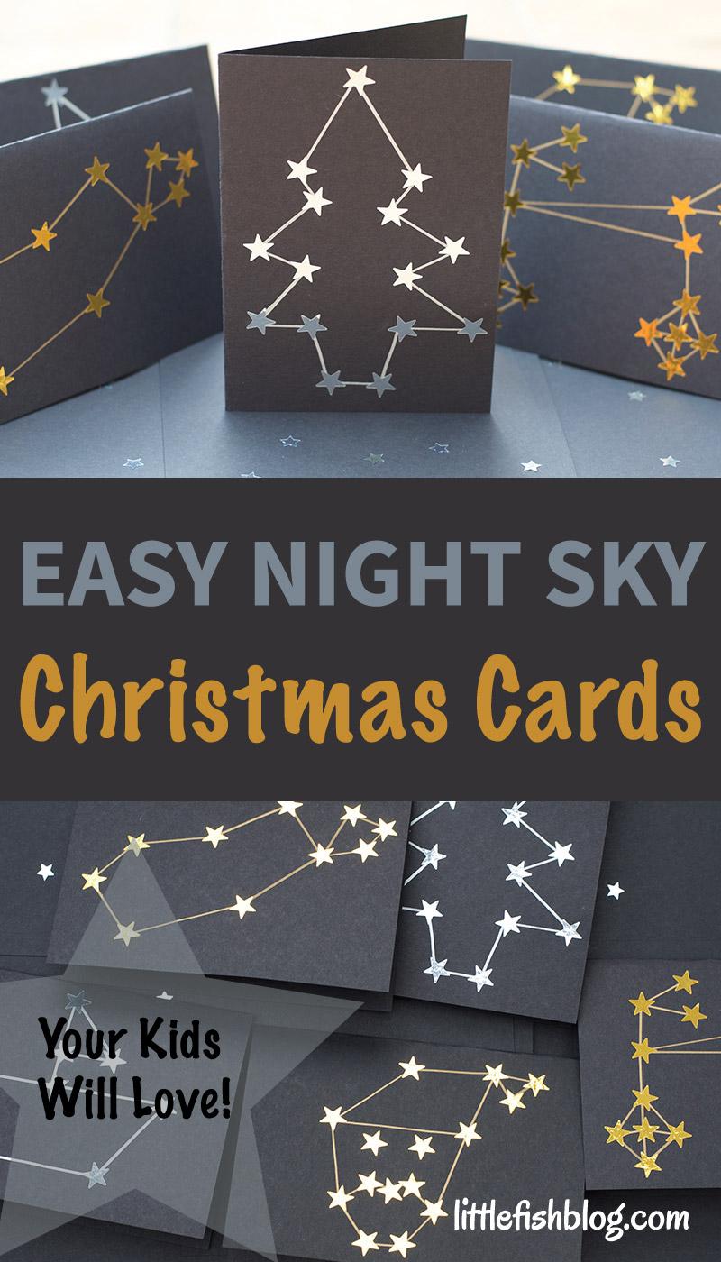 Easy Night Sky Christmas Cards