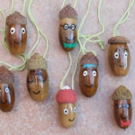 Painted Acorn People Decorations