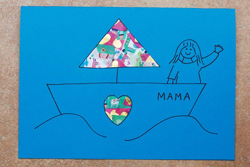 Boat Washi Tape Card