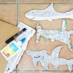 Recycled Newspaper Shark Craft for Kids