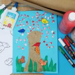 Woodland Animals Tree Collage – With Free Printable