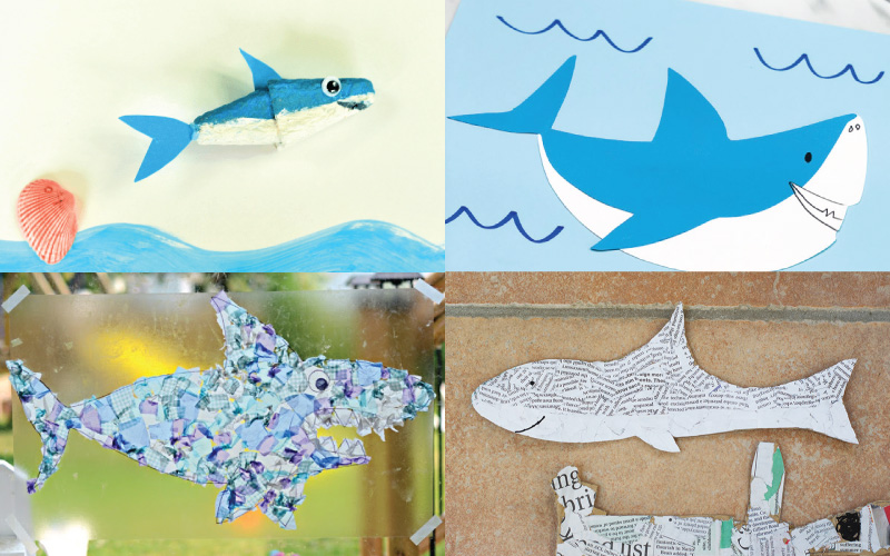 Jaw-some Shark Themed Arts and Crafts
