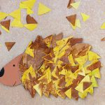 Easy Leaf Hedgehog Craft