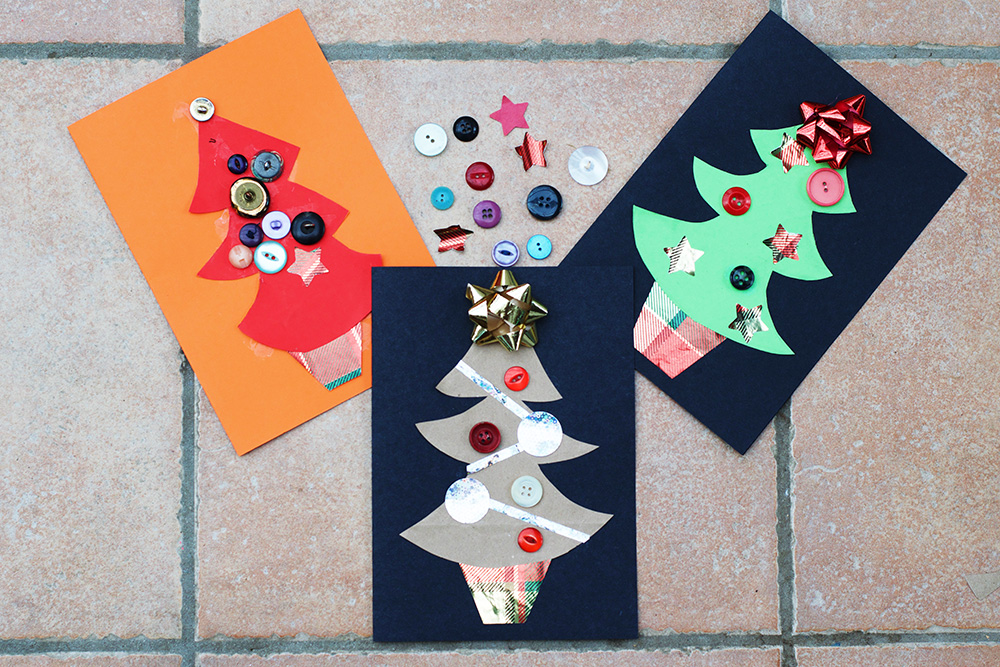 Recycled Christmas Tree Card