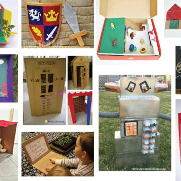 Cardboard Box Crafts and Activities