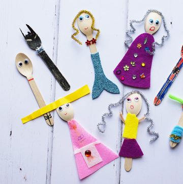 Finished Wooden Spoon Puppets